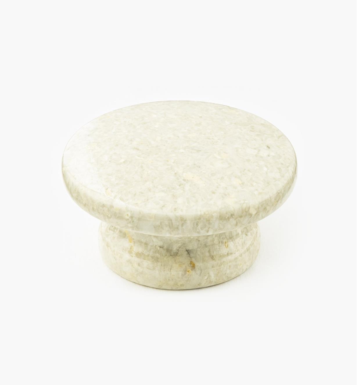 00W4042 - Bouton en marbre, sable, 50 mm x 25 mm