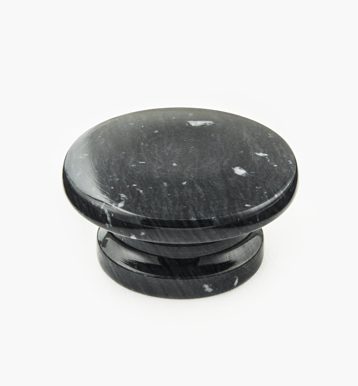 00W4043 - Bouton en marbre, noir, 50 mm x 25 mm