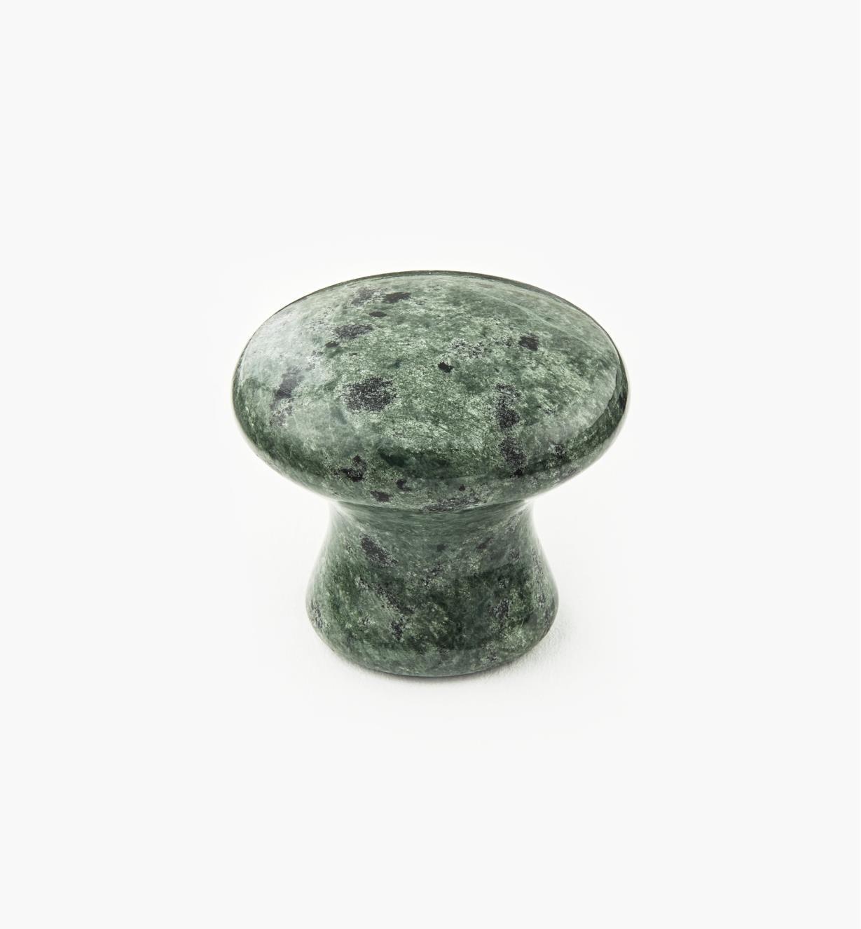 00W4051 - Bouton en marbre, vert, 34 mm x 30 mm