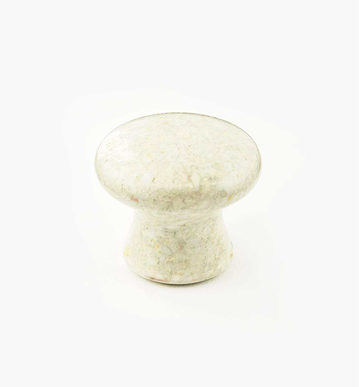00W4052 - Bouton en marbre, sable, 34 mm x 30 mm