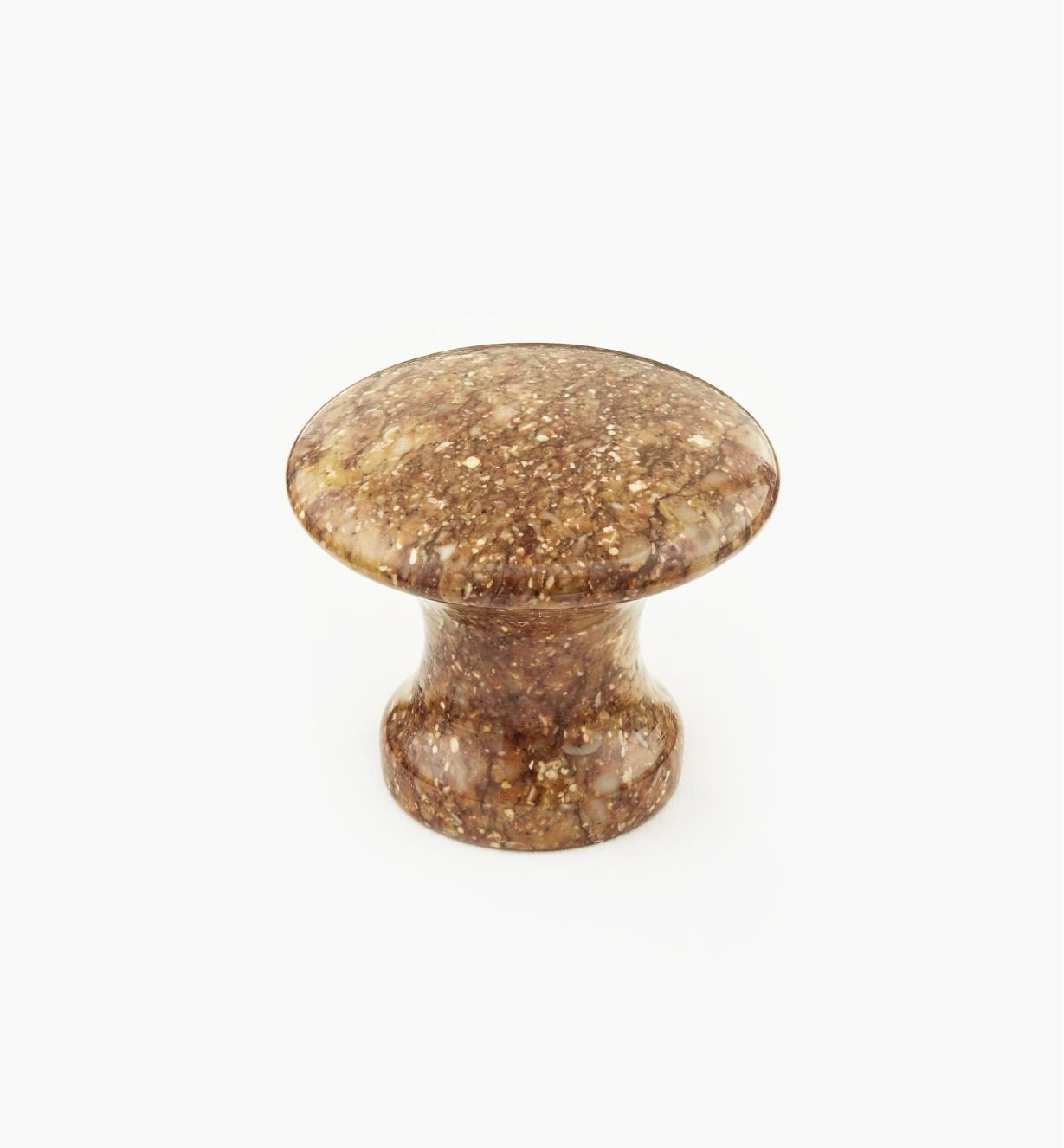 00W4065 - Brown Marble Knob, 35mm x 30mm