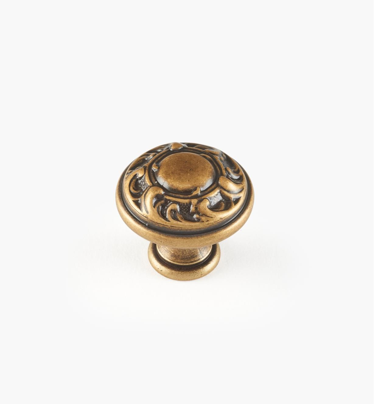 01A5110 - 25mm x 23mm Louis XV Knob