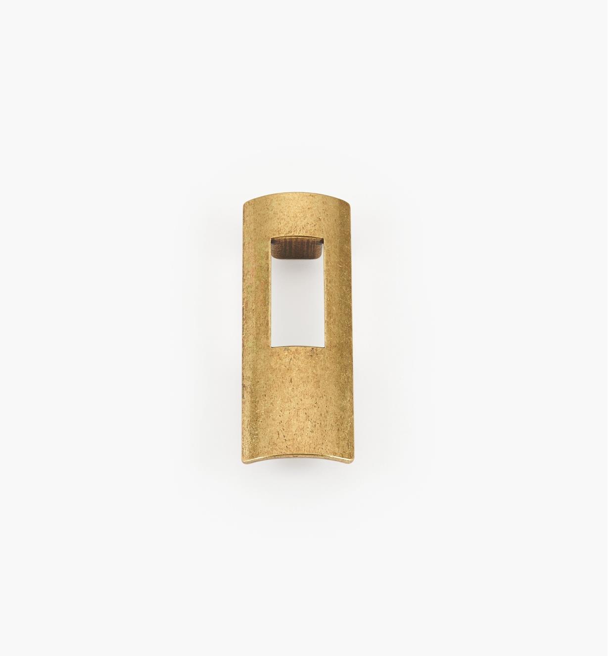 01G1922 - 64mm x 88mm Antique Brass Portal Pull