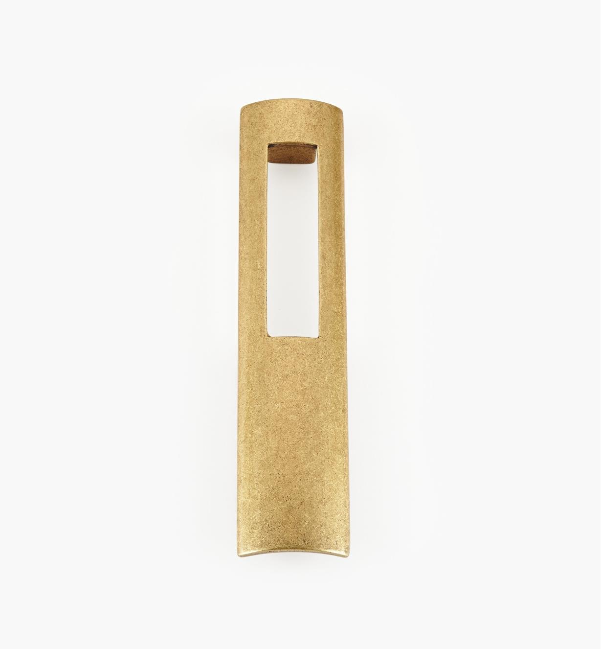 01G1923 - 128mm x 152mm Antique Brass Portal Pull