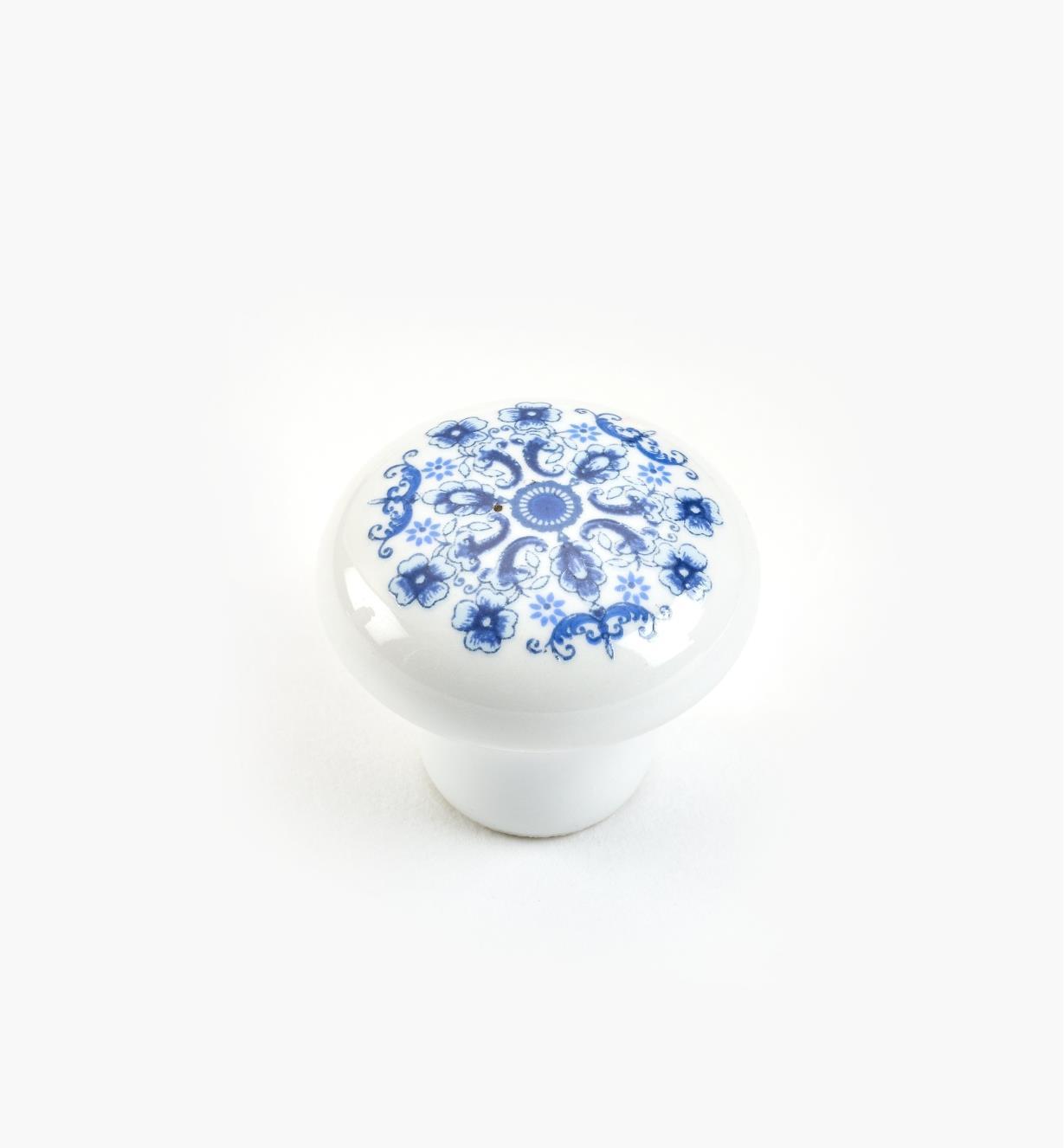 "01W0201 - 1"" x  7/8"" Blue Knob"
