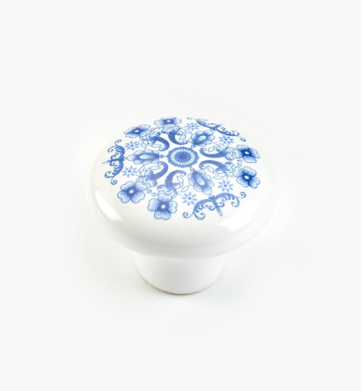 "01W0203 - 1 1/4"" x  15/16"" Blue Knob"