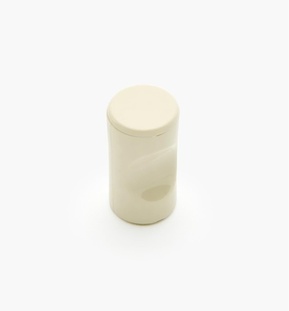 "01W4513 - 13mm x 1 1/8"" Beige Notched Pull/Knob"