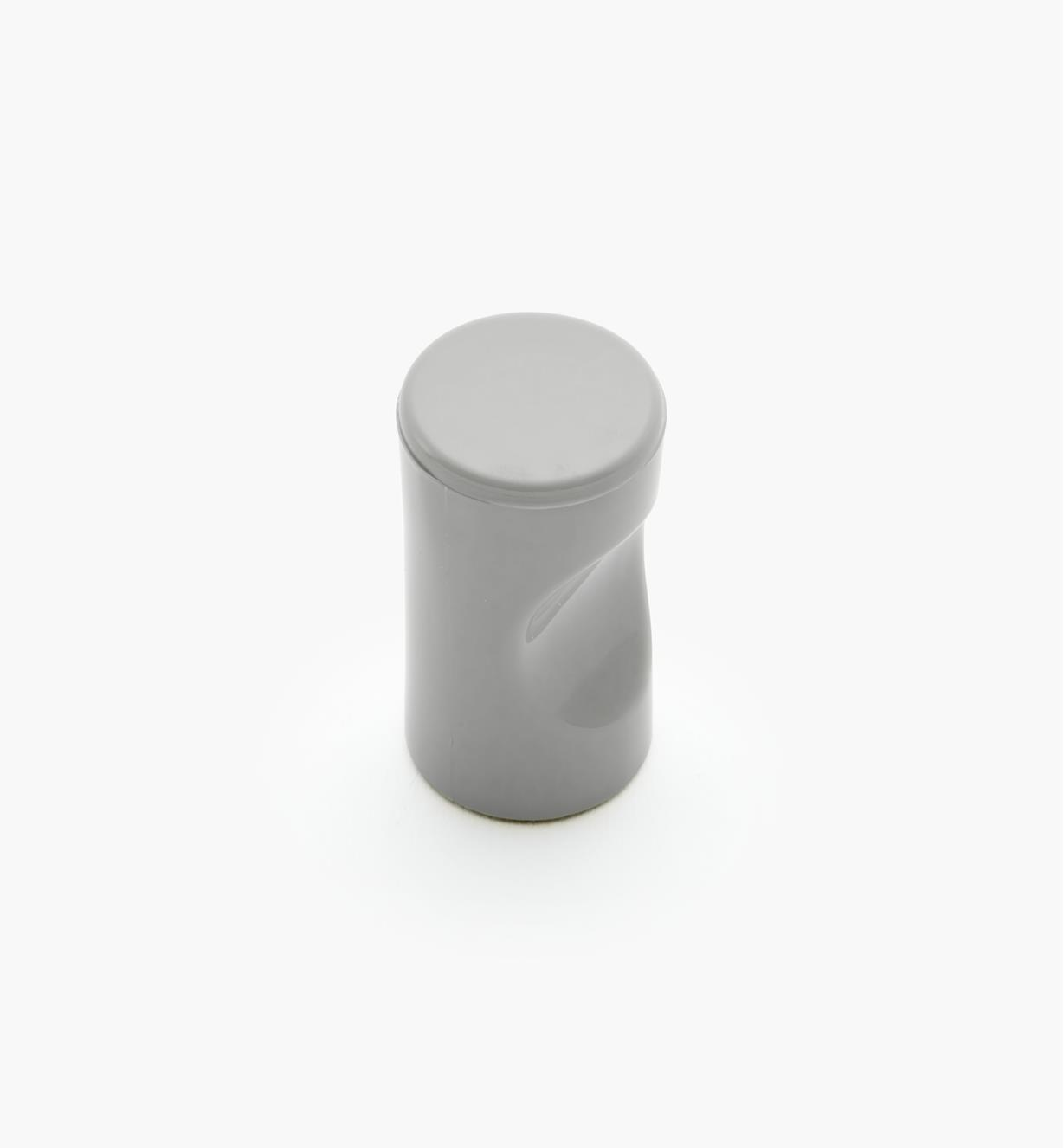 "01W4514 - 13mm x 1 1/8"" Gray Notched Pull/Knob"