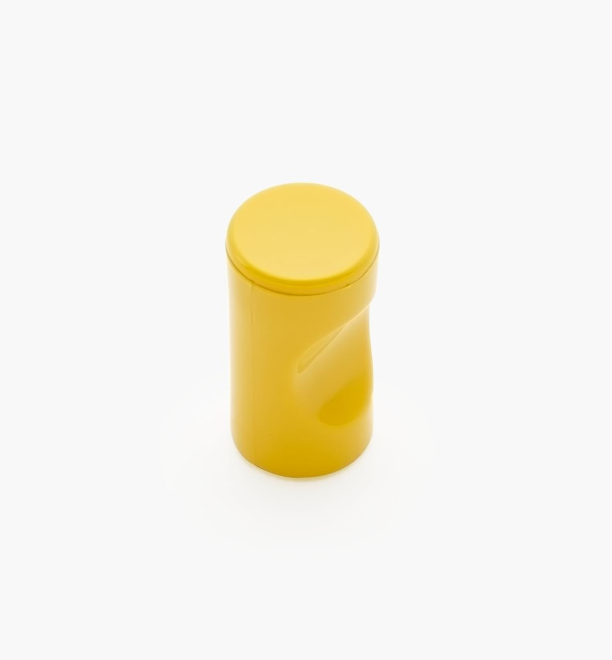 "01W4517 - 13mm x 1 1/8"" Yellow Notched Pull/Knob"