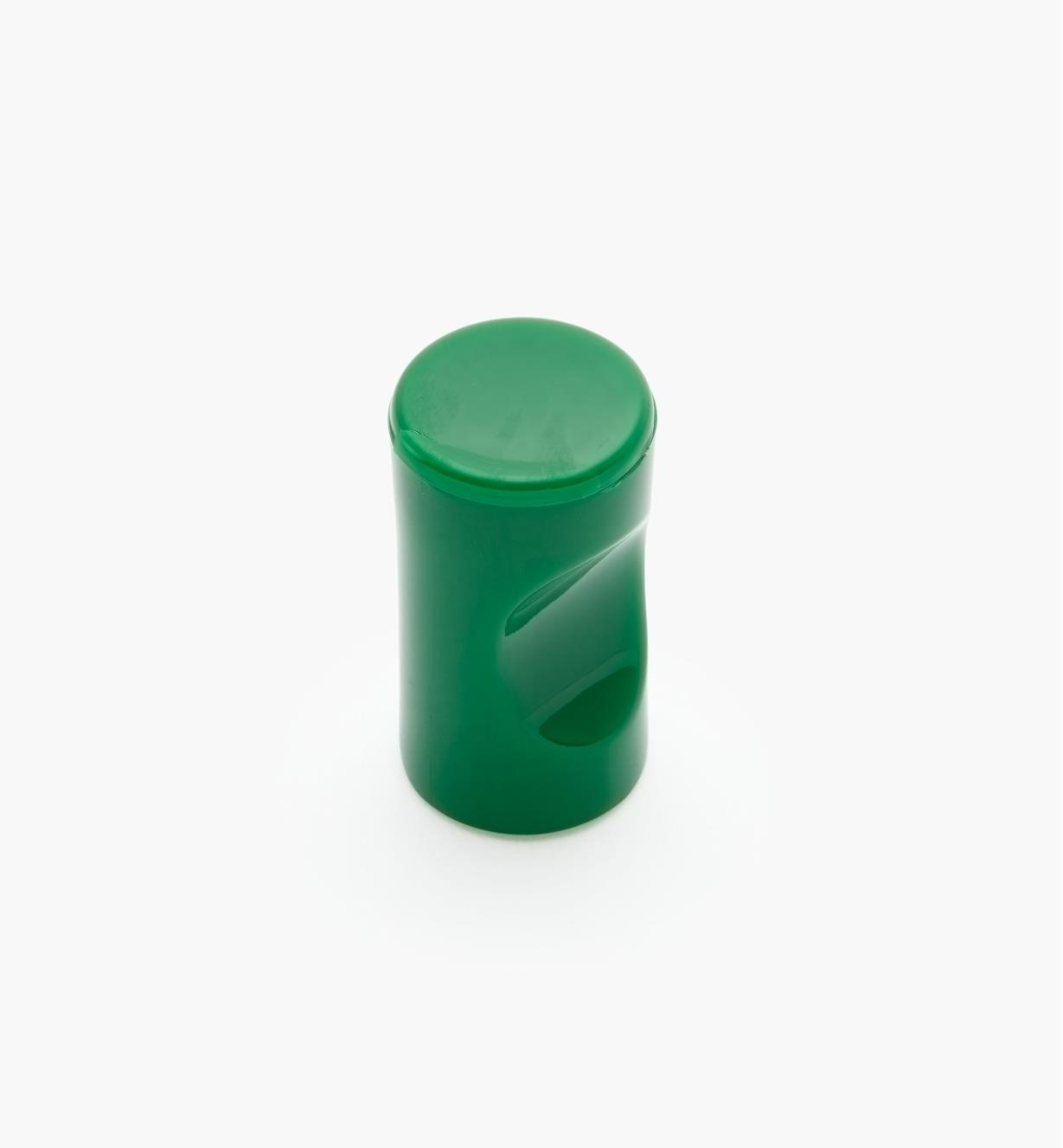 "01W4518 - 13mm x 1 1/8"" Green Notched Pull/Knob"