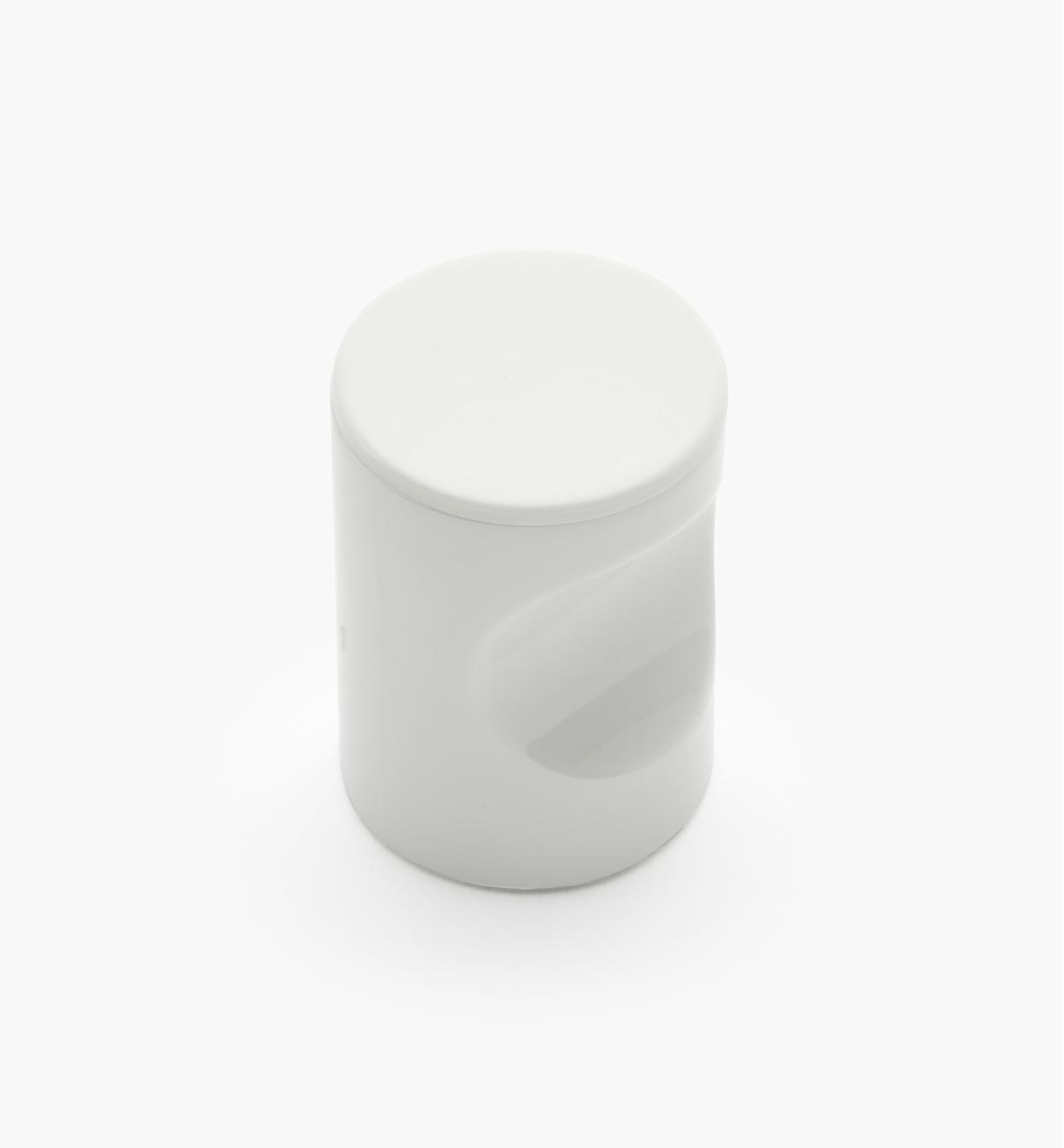 "01W4522 - 20mm x 1 11/16"" White Notched Pull/Knob"