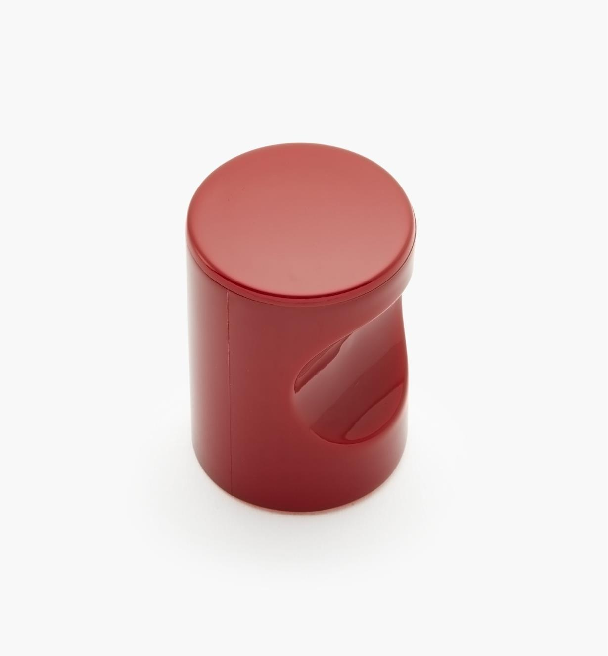 "01W4525 - 20mm x 1 11/16"" Red Notched Pull/Knob"