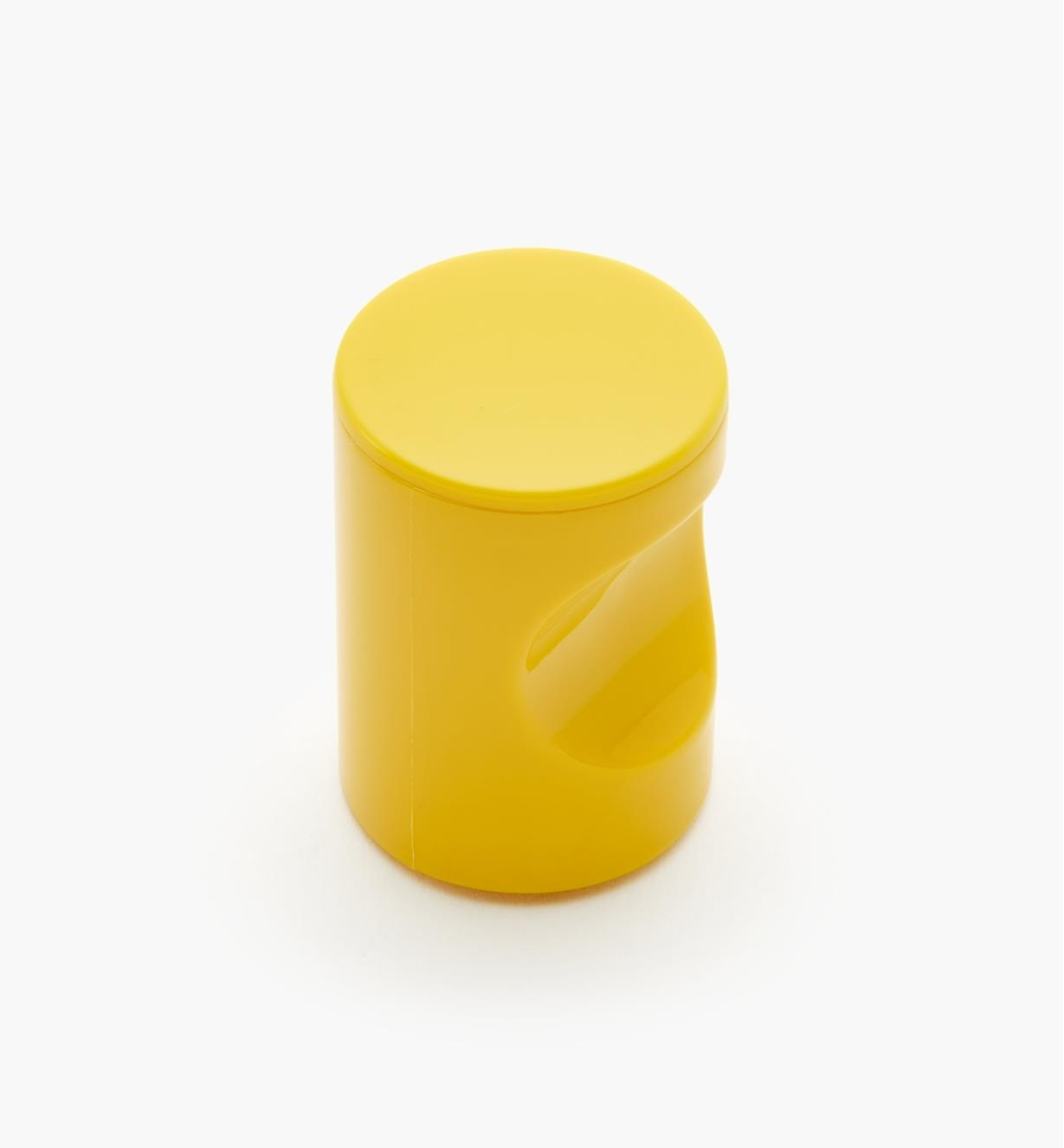 "01W4527 - 20mm x 1 11/16"" Yellow Notched Pull/Knob"