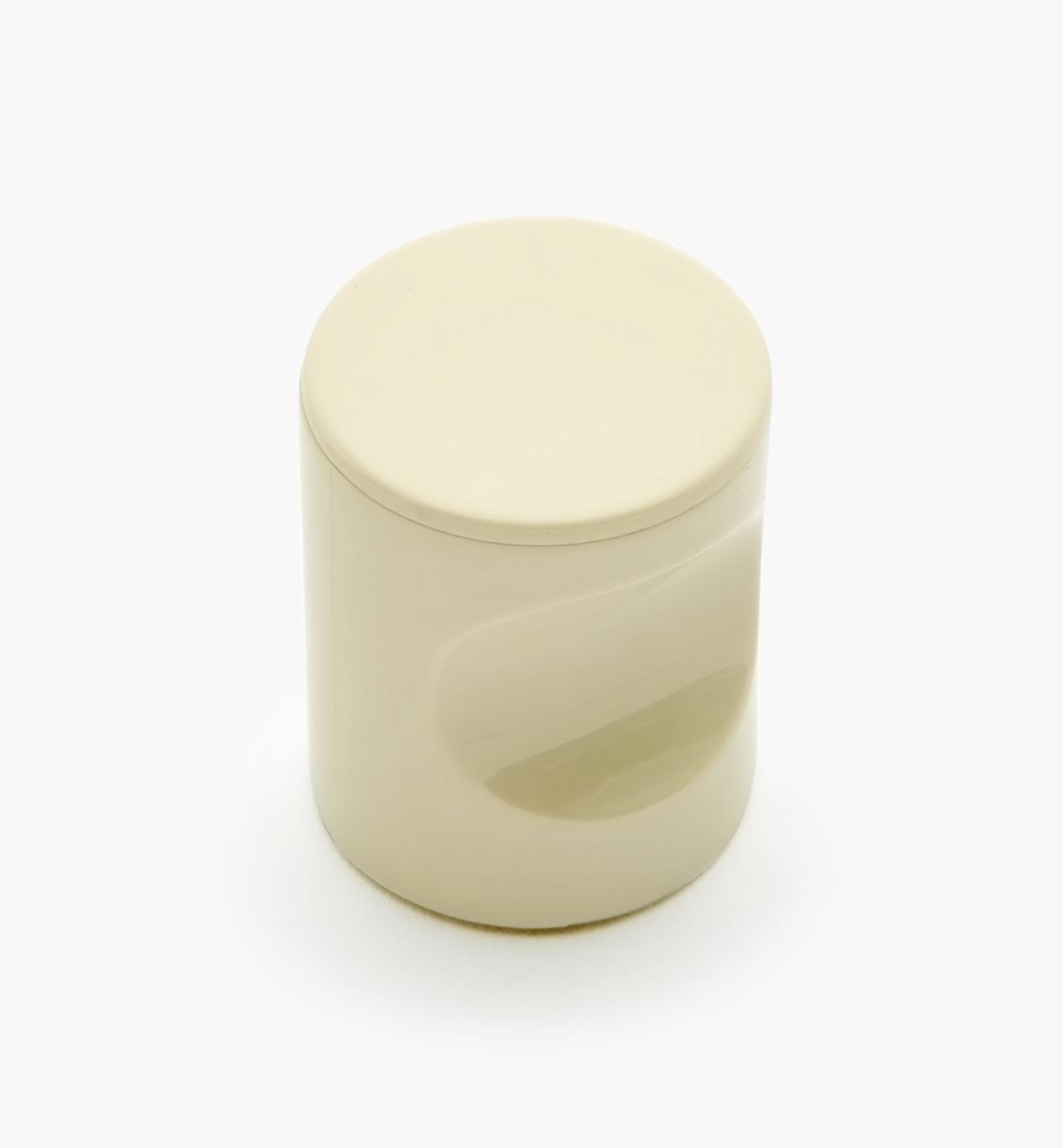"01W4533 - 23mm x 1 11/16"" Beige Notched Pull/Knob"