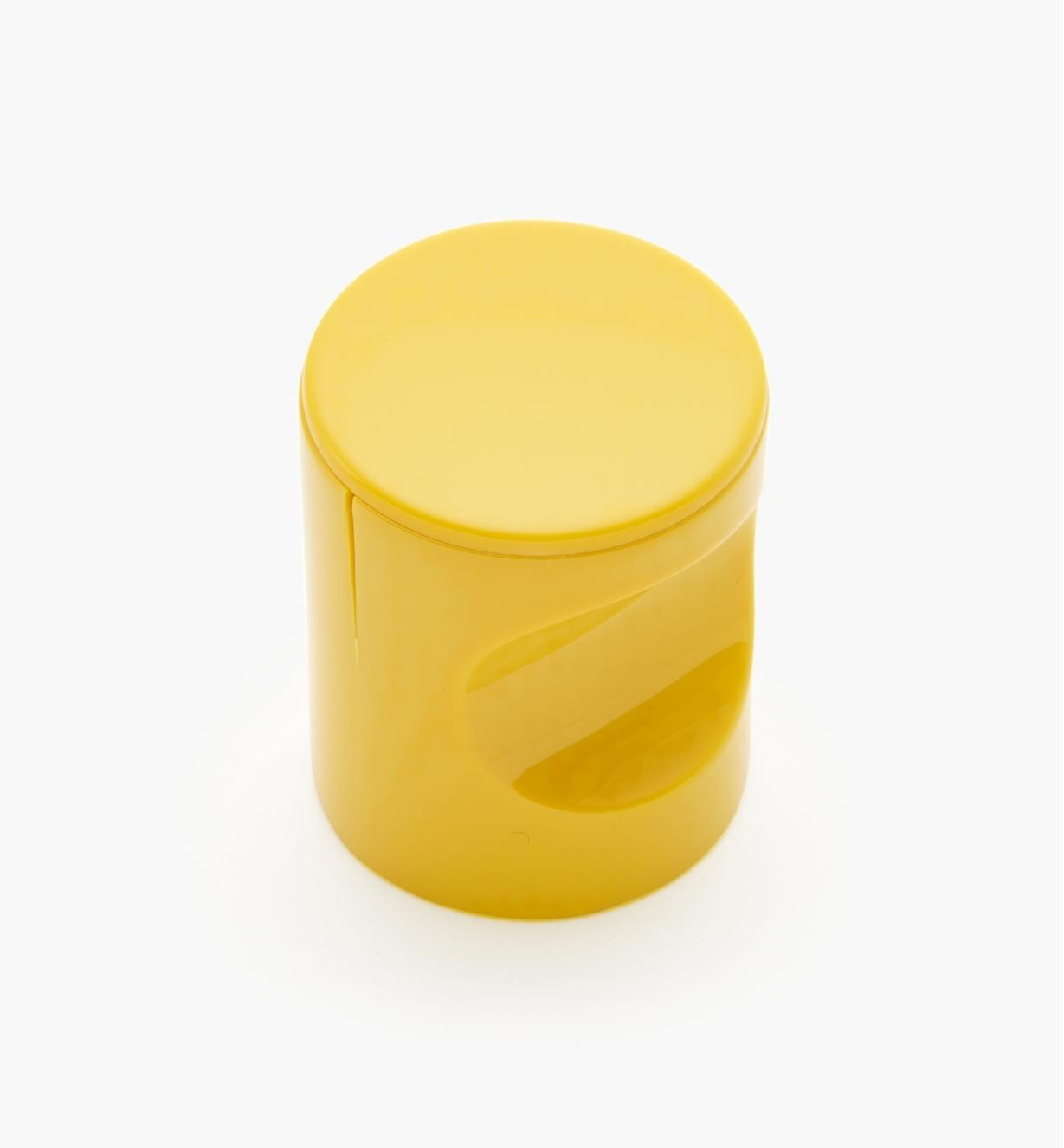 "01W4537 - 23mm x 1 11/16"" Yellow Notched Pull/Knob"