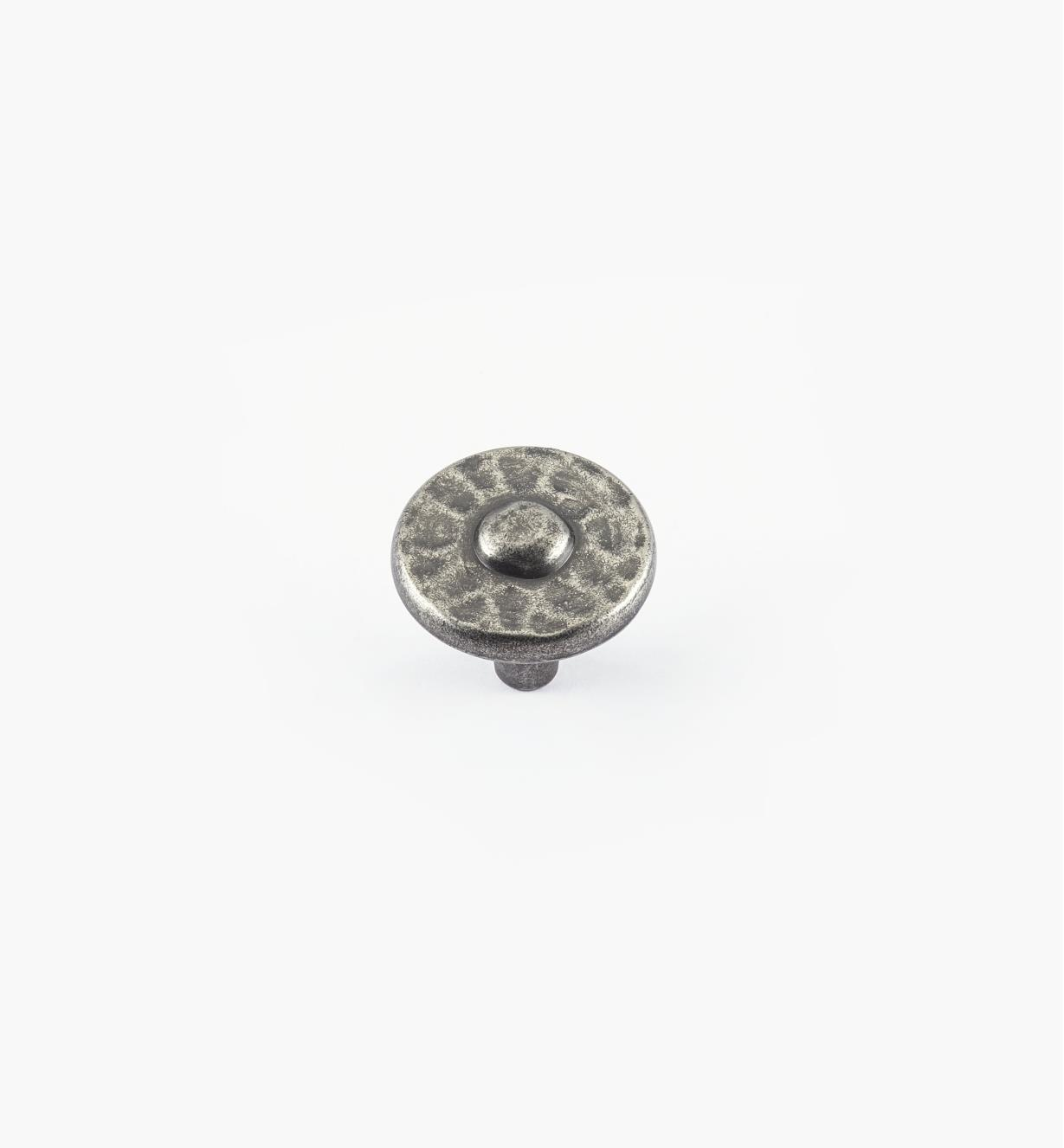 "01W4911 - 1 3/8"" Nevada Antique Pewter Knob"