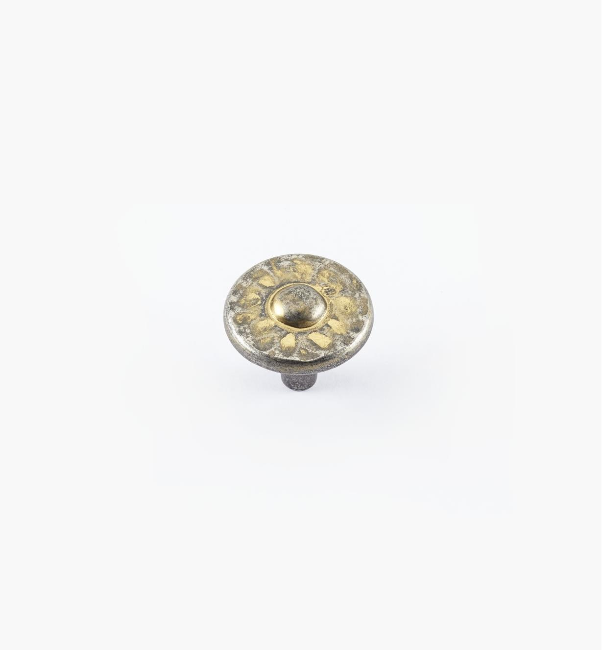 01W4913 - Bouton Nevada de 13/8po, fini étain bronzé