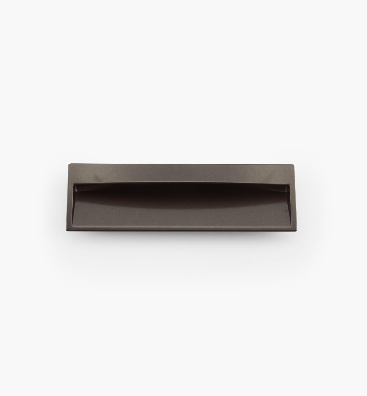 02W3951 - Poignée encastrée rectangulaire, fini palladium, 170 mm x 52 mm
