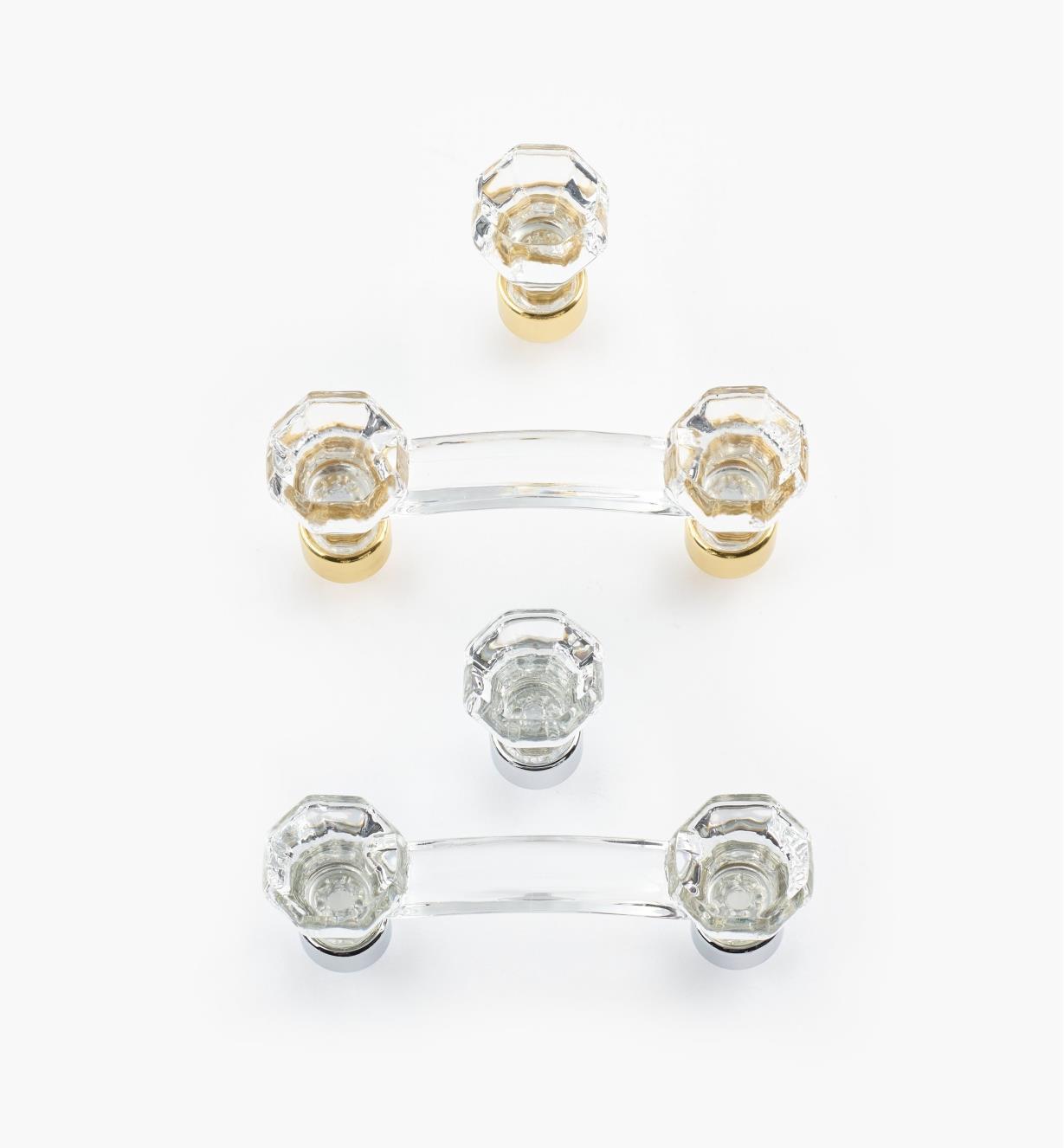 Octagonal Crystal Hardware