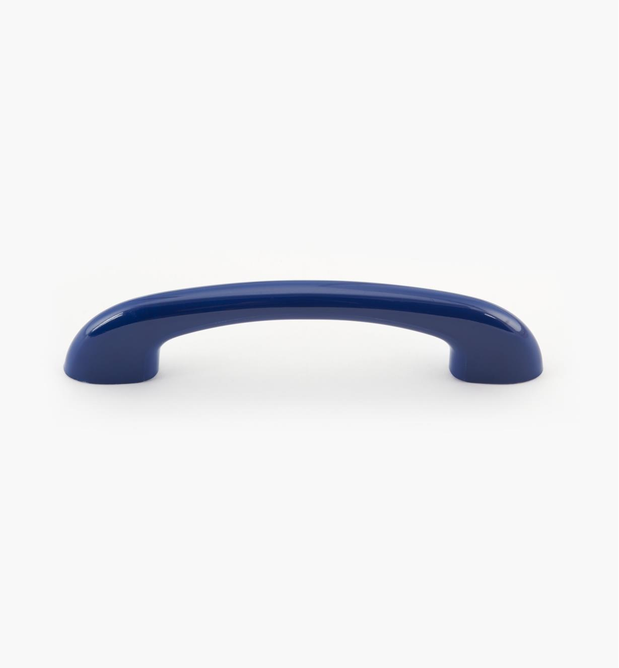 00W3516 - Poignée arrondie en plastique, bleu arc-en-ciel, 51/4po