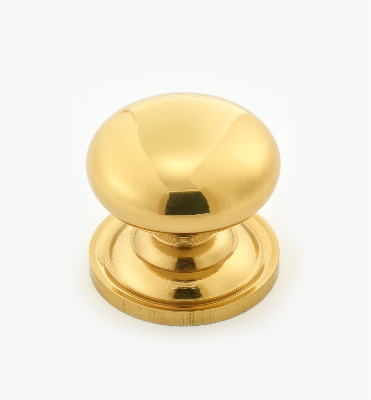 """00W9011 - 1 1/8"""" x 1 1/8"""" Solid Brass Knob"""