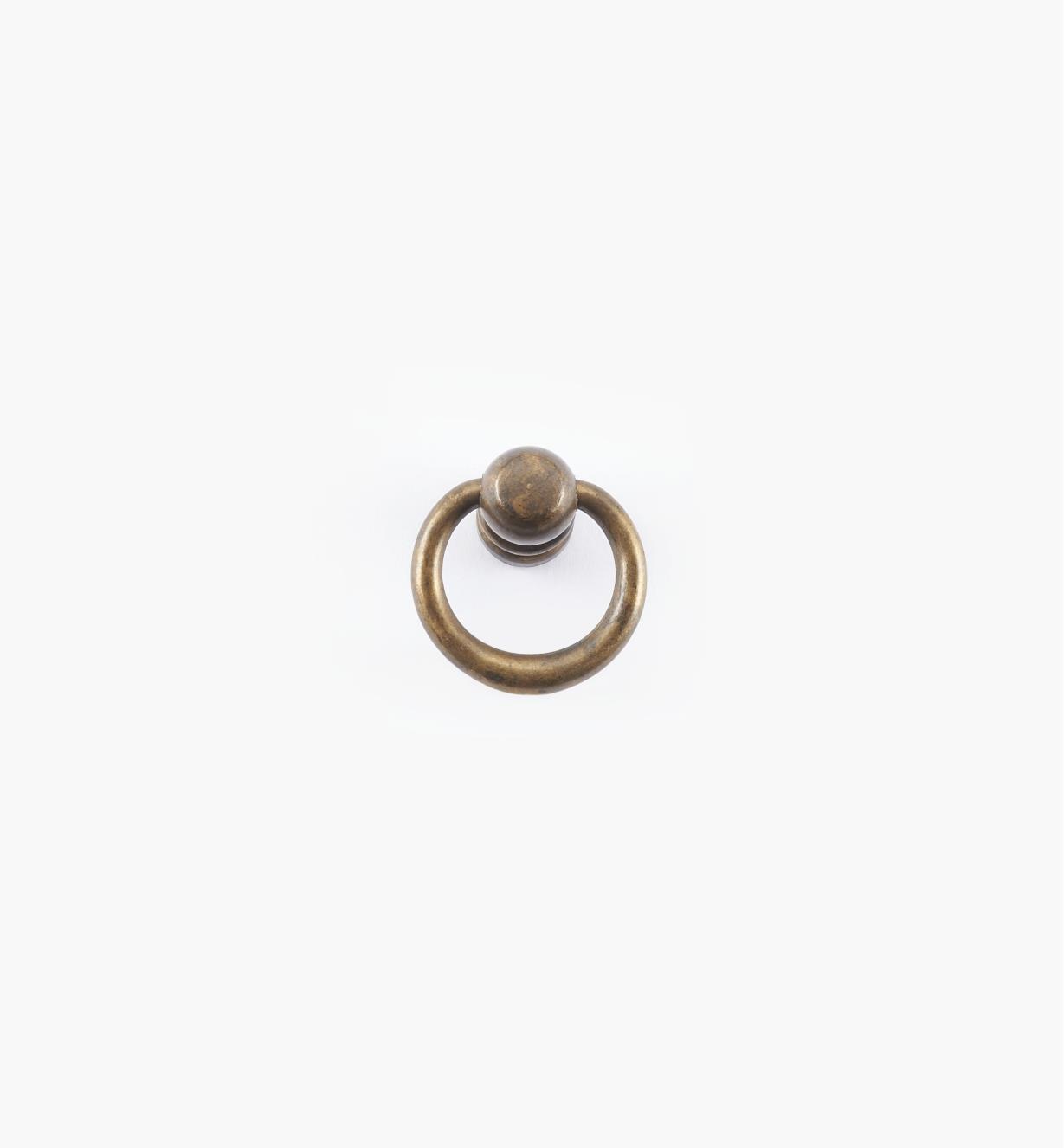 01A2321 - Poignée à anneau fuselé simple, 23 mm x 25 mm