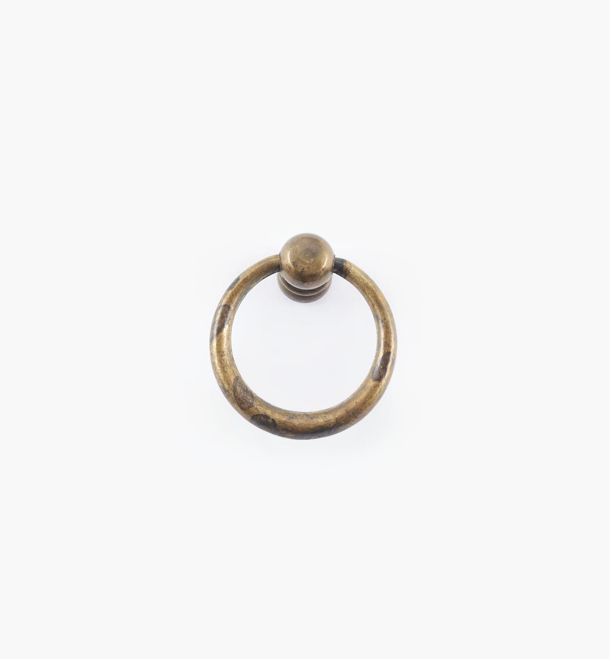 01A2322 - Poignée à anneau fuselé simple, 33 mm x 36 mm