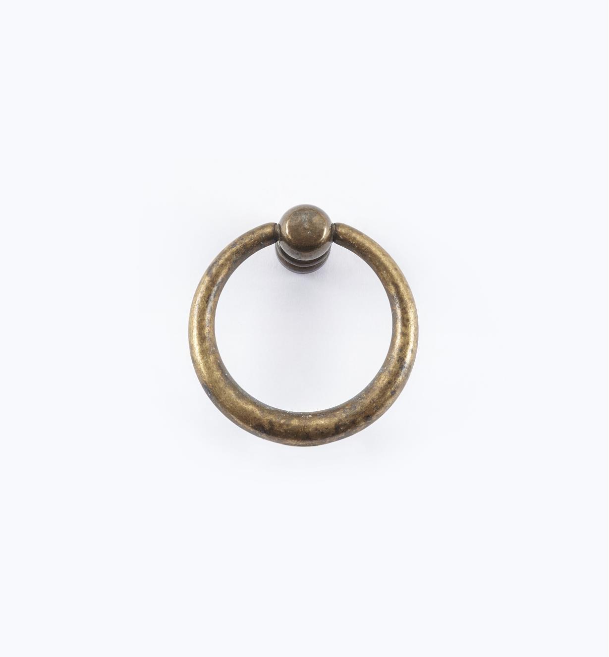 01A2323 - Poignée à anneau fuselé simple, 40 mm x 42 mm