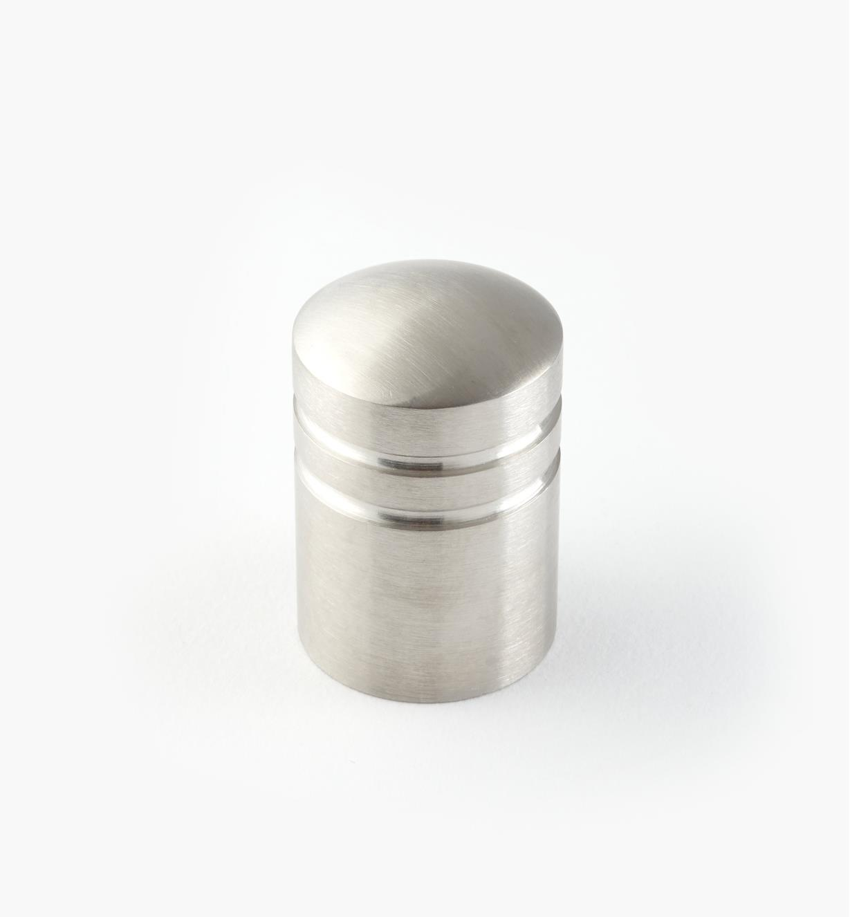 01W6951 - 20mm x 30mm Stainless Steel Ribbed Knob