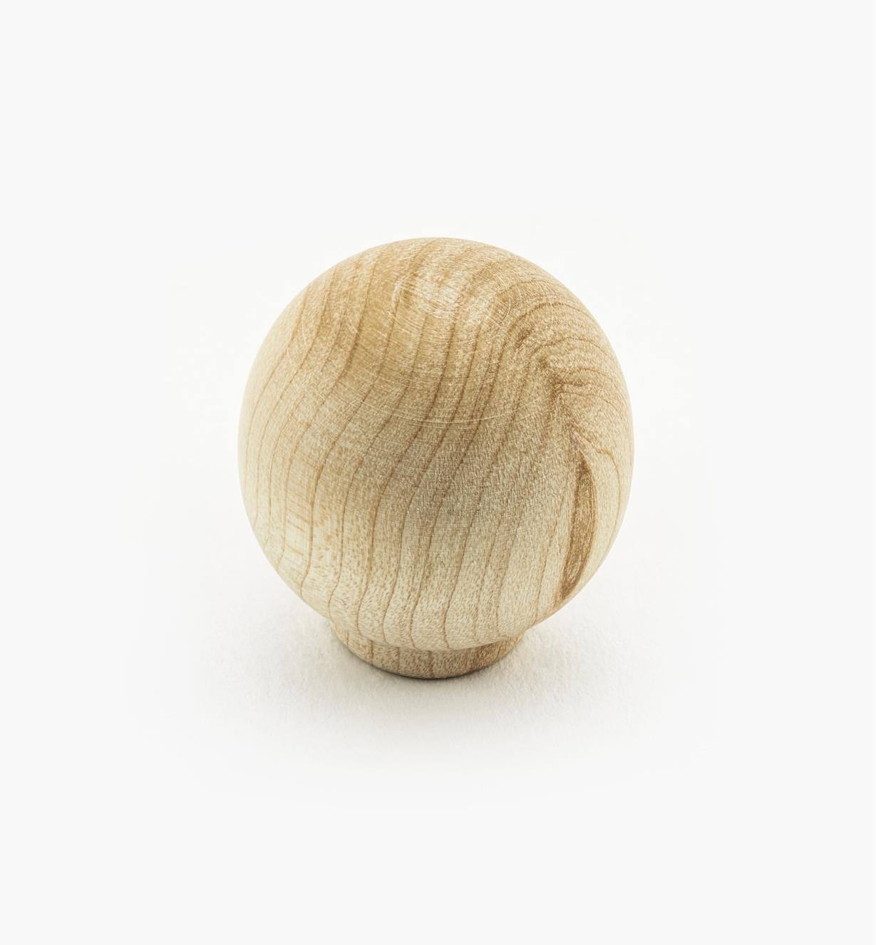 "02G1416 - 15/16"" x 1"" Maple Ball Knob"