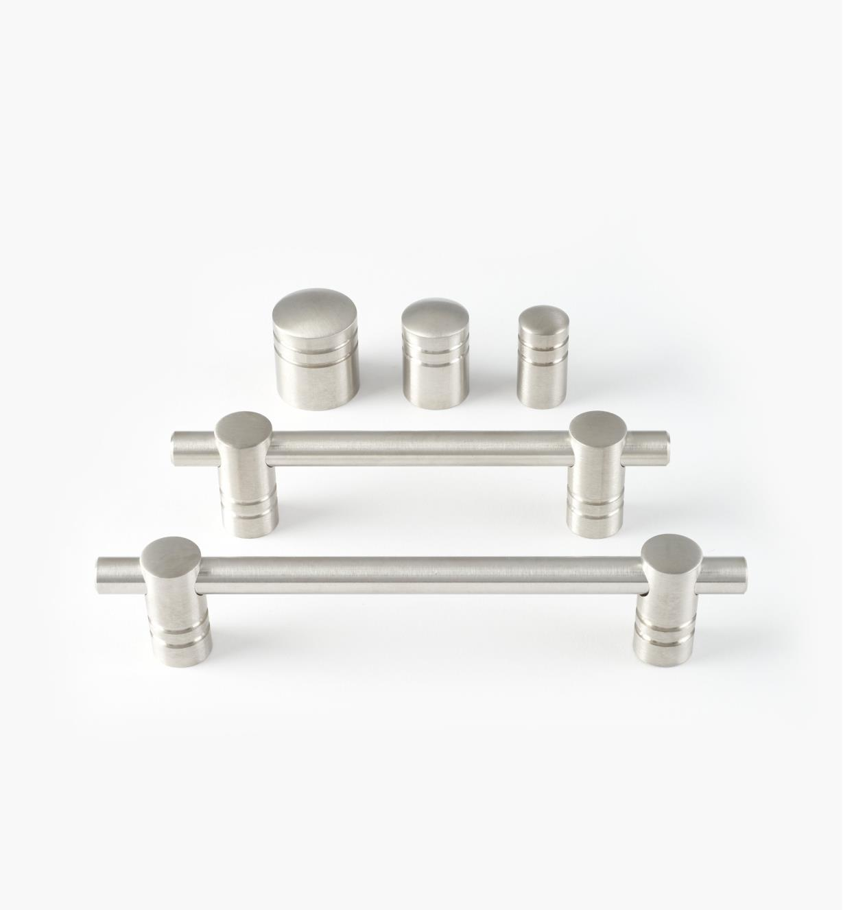 Stainless-Steel Ribbed Hardware