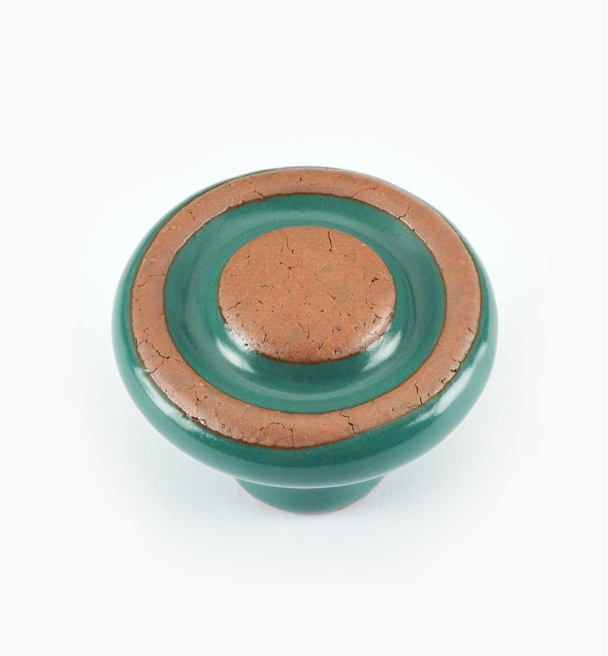 """00W7540 - 1 3/8"""" x 1"""" Green Knob"""