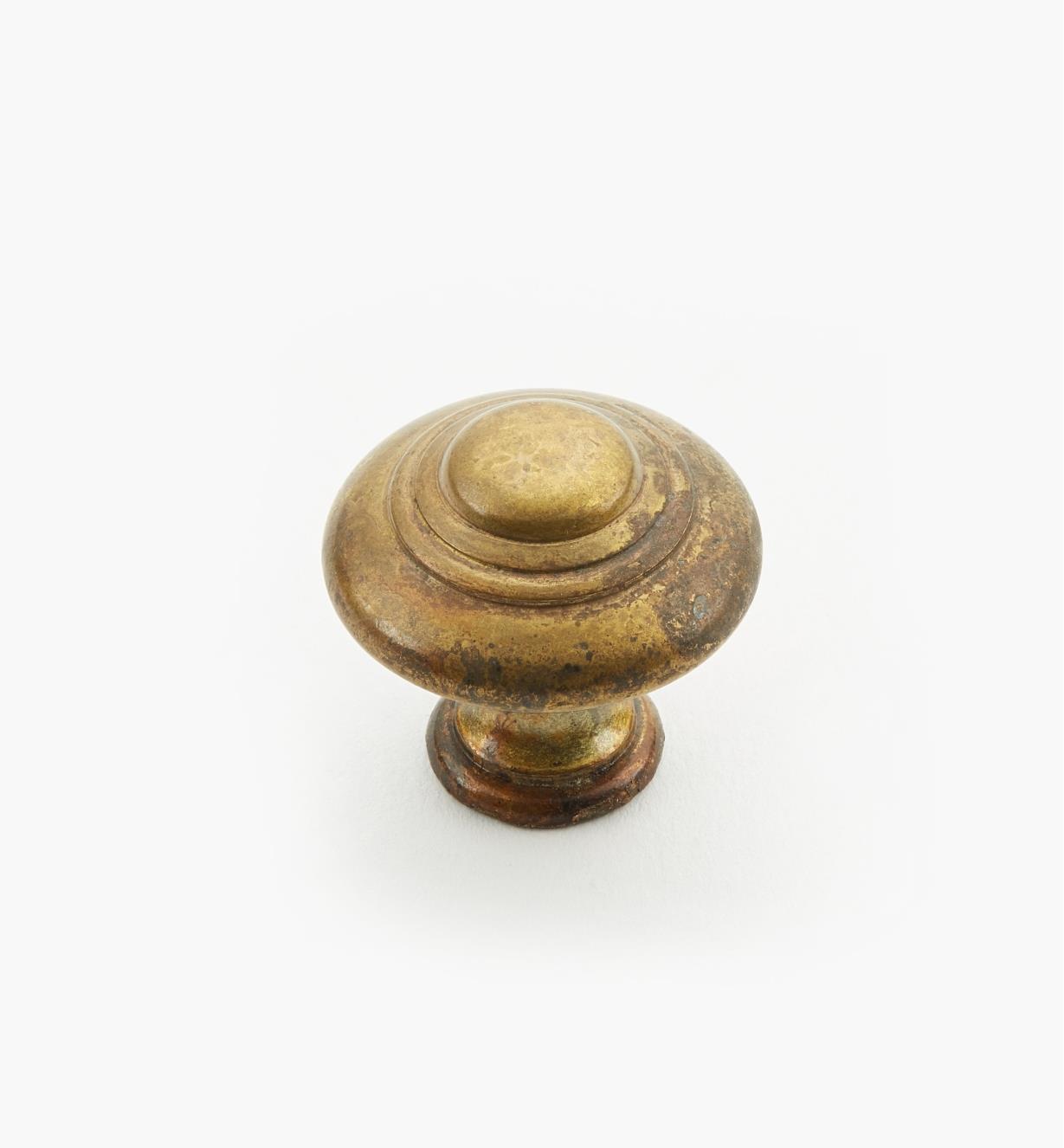 01A3925 - Bouton annelé de 25 mm x 25 mm, quincaillerie à trois perles, série I