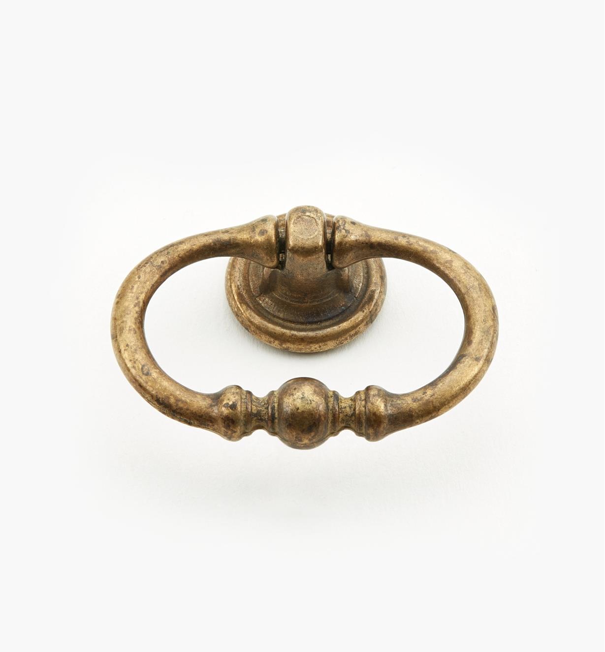 01A3971 - Poignée à anneau ovale de 55 mm, quincaillerie à trois perles, série I