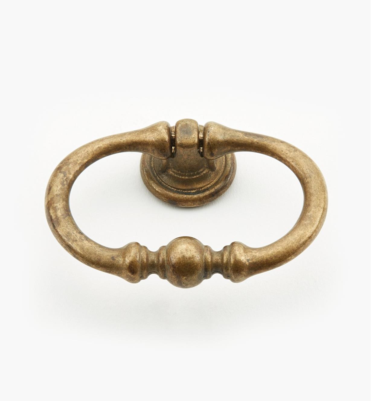 01A3972 - Poignée à anneau ovale de 67 mm, quincaillerie à trois perles, série I