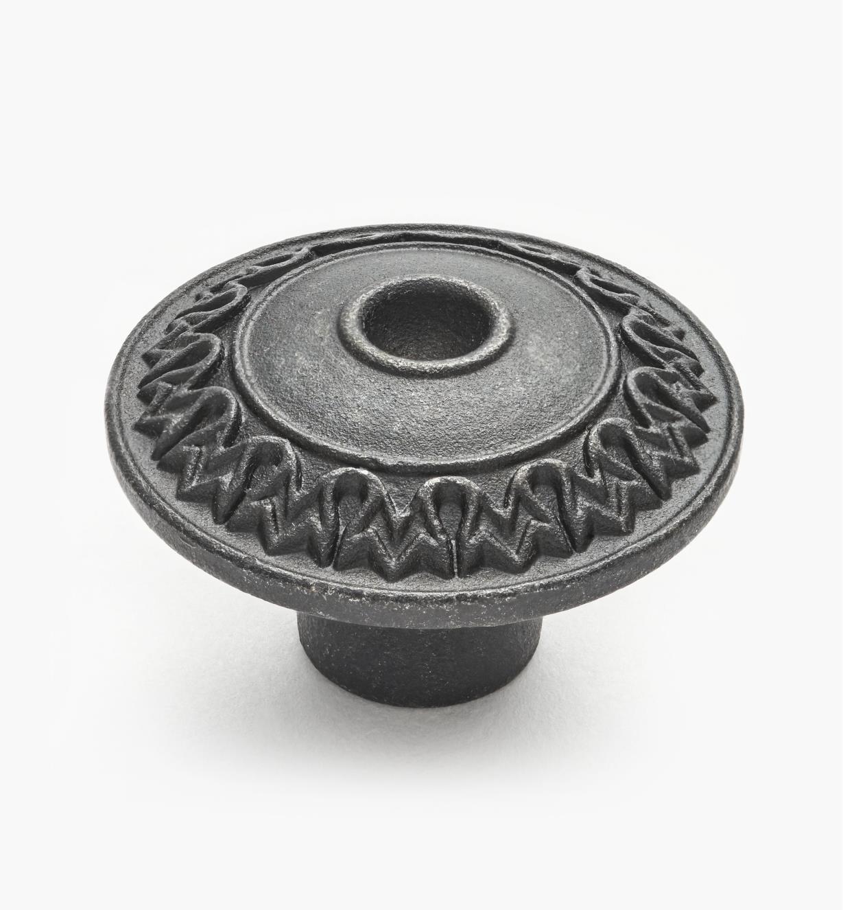 01W6140 - Steel Detailed Knob