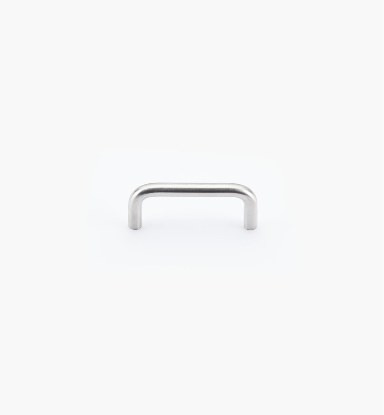 01W6805 - Poignée-fil en acier inoxydable, fini brossé, 64 mm x 8 mm