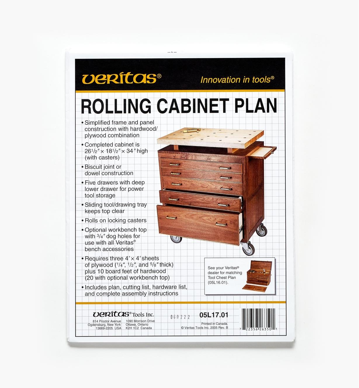 05L1701 - Rolling Cabinet Plan