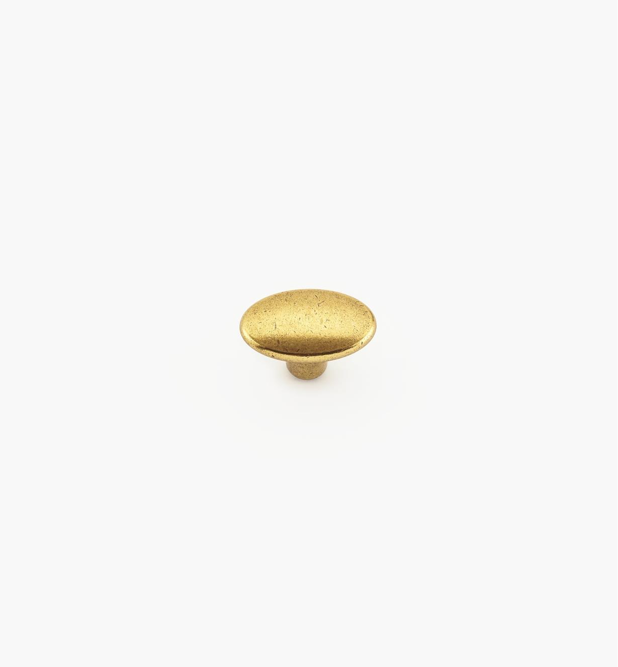 00A7160 - Bouton ovale de 30mmx 19mm, fini bronze bruni