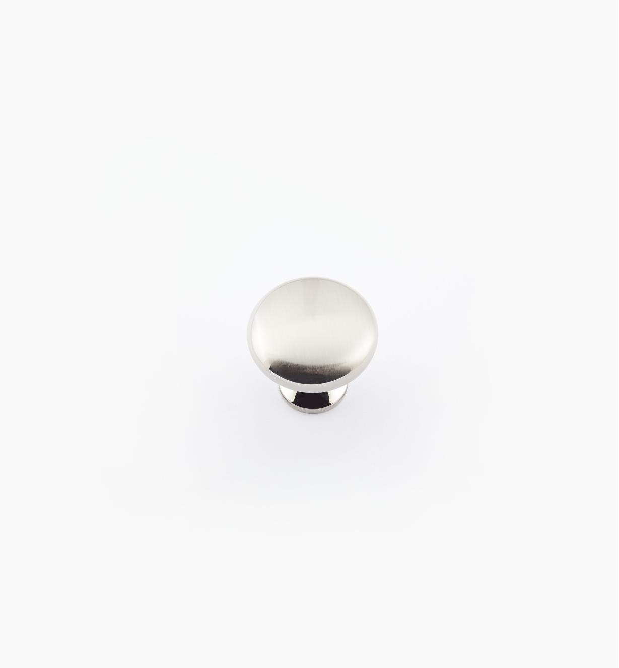 "02A2422 - 1 1/8"" x 1"" Satin Nickel Anniversary Knob"