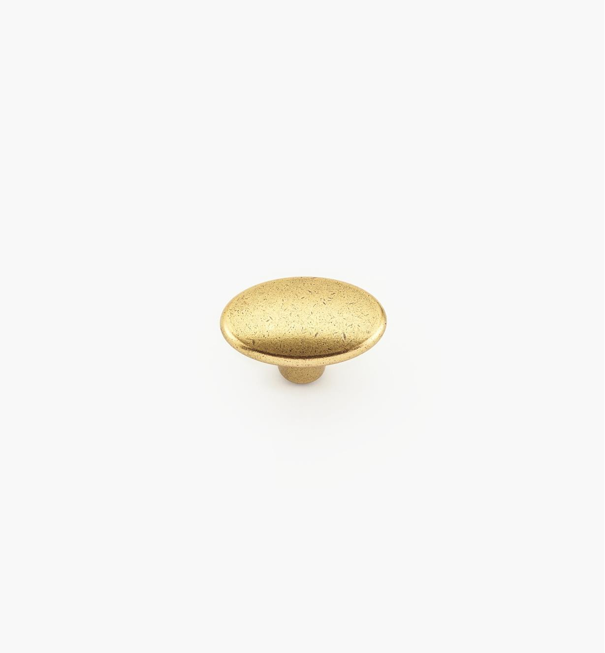 00A7161 - Bouton ovale de 37mmx 24mm, fini bronze bruni