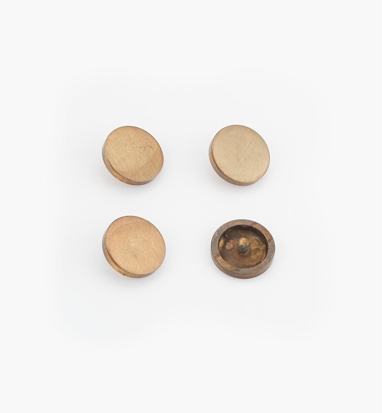 "00K4532 - 3/8"" Bronze Flat Cap #3, pkg. of 4"
