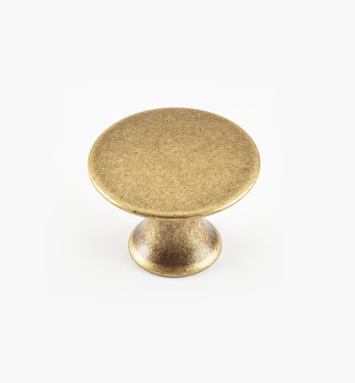 01A0225 - 25mm x 19mmAntique Brass Plain Knob