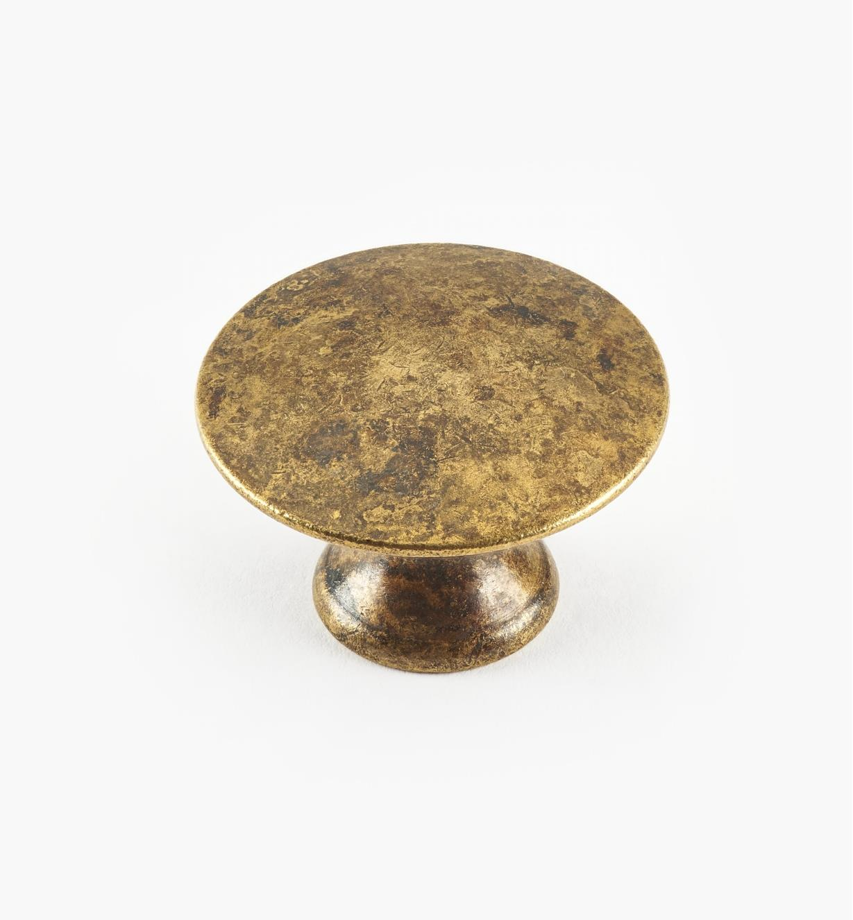 01A0328 - 28mm x 20mm Old Brass Plain Knob