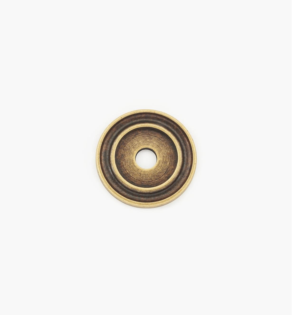01A0720 - 20mm Antique Brass Knob Escutcheon