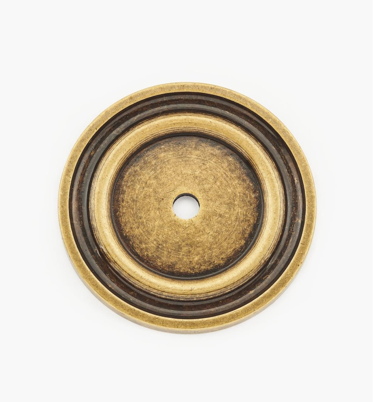 01A0740 - 40mm Antique Brass Knob Escutcheon