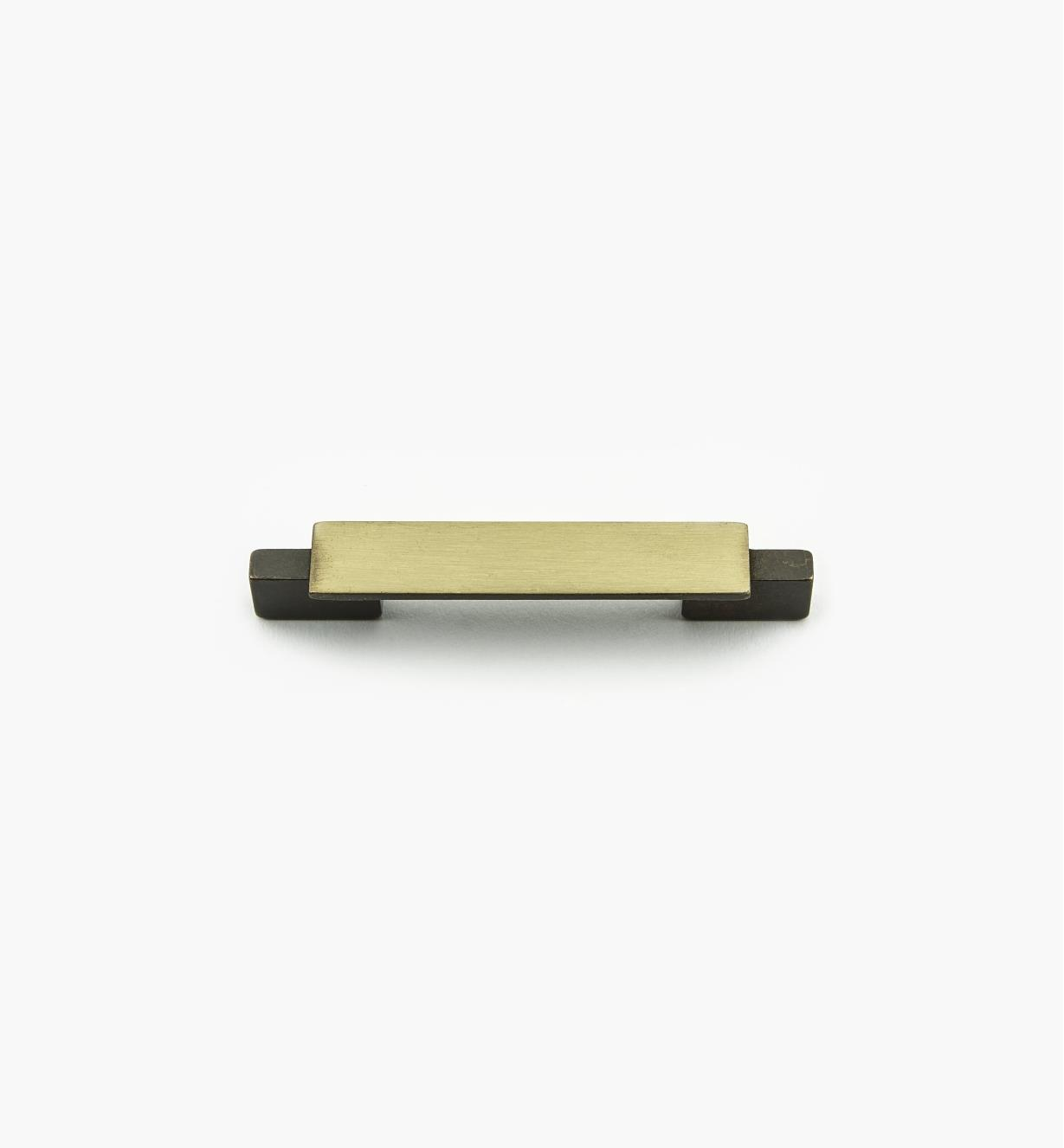 01G1853 - Bridge Hardware - 64mm x 103mm Brushed Antique Brass Handle