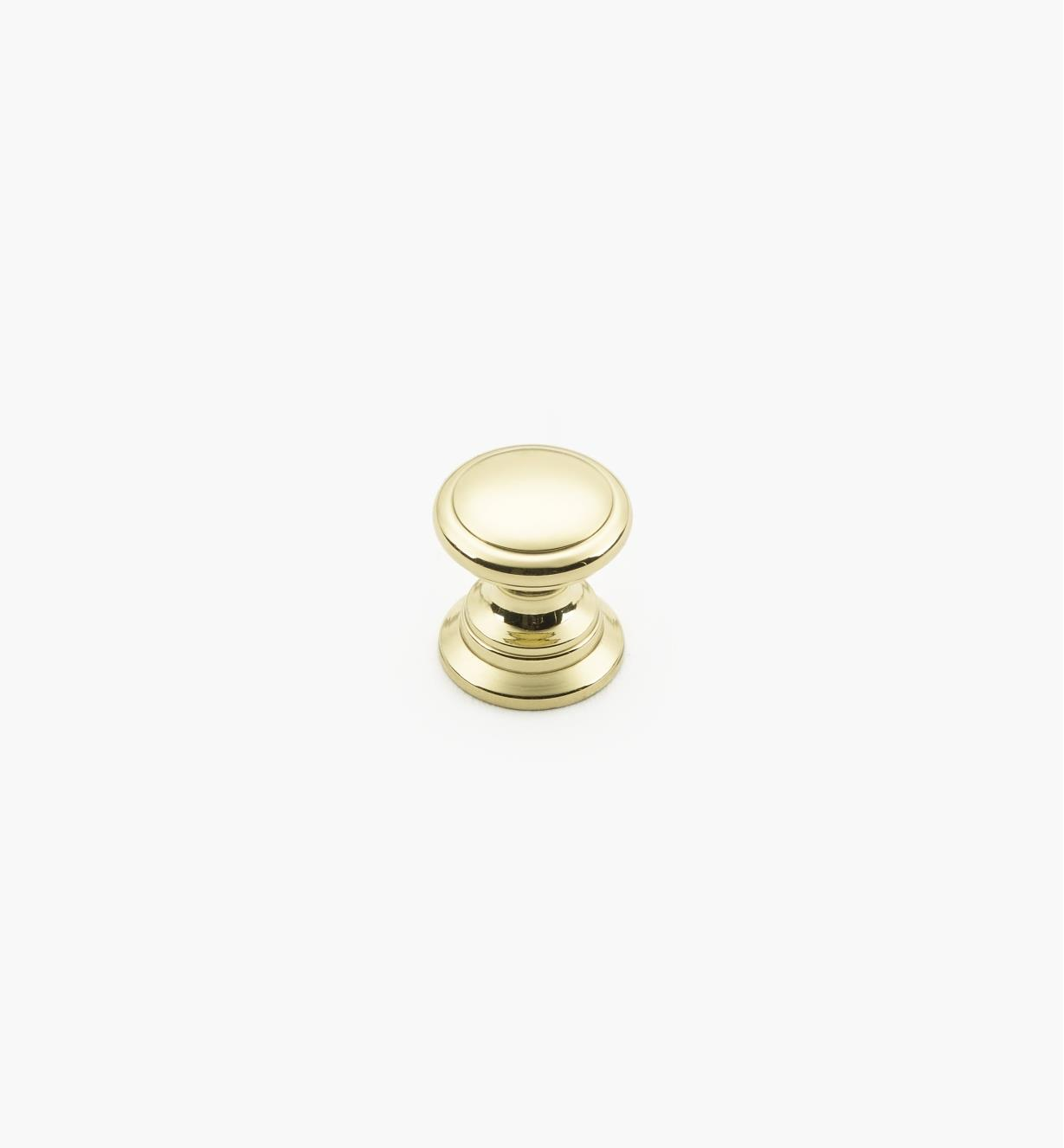 01W1340 - 13mm x 14mm Brass Knob
