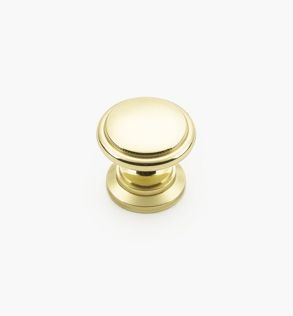 01W1343 - 25mm x 23mm Brass Knob