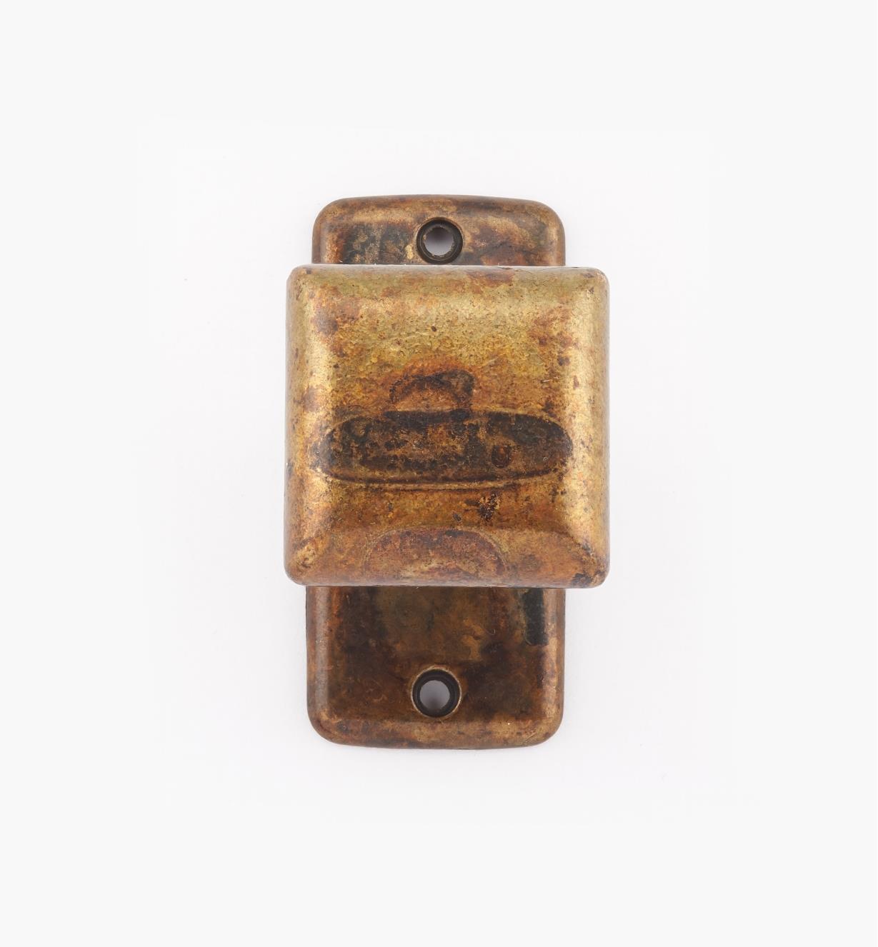 01X4004 - Old Brass Classic Sq. Knob w/ Backplate